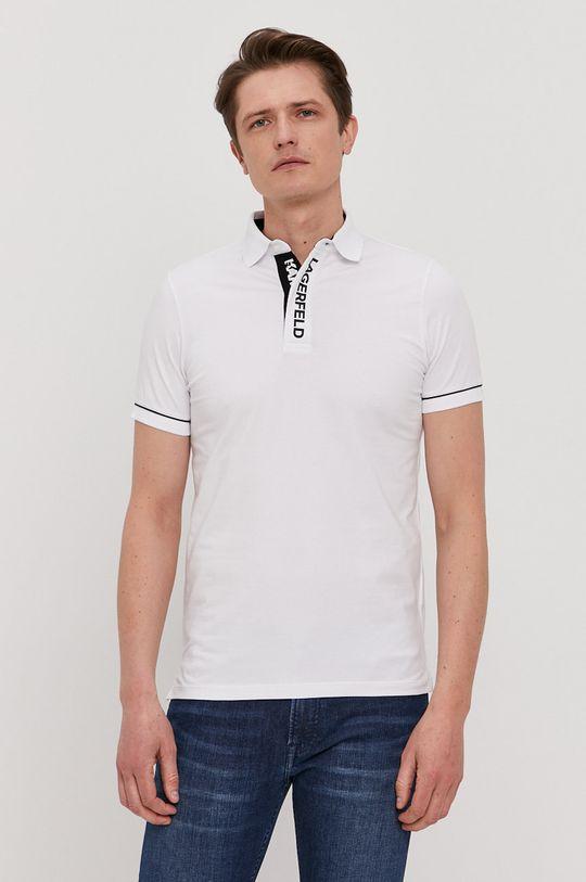 biały Karl Lagerfeld - Polo Męski