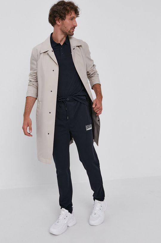 Karl Lagerfeld - Tricou Polo bleumarin