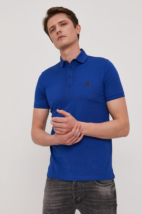 niebieski Karl Lagerfeld - Polo Męski