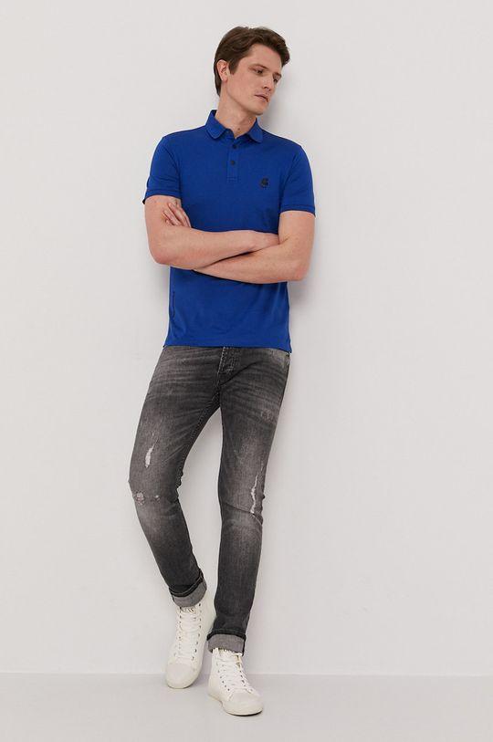 Karl Lagerfeld - Polo niebieski