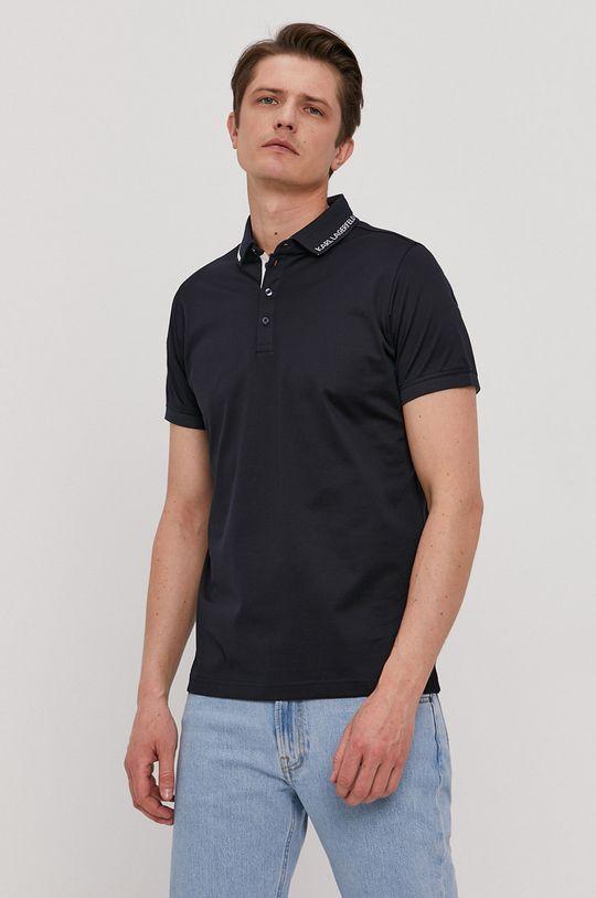 námořnická modř Karl Lagerfeld - Polo tričko Pánský
