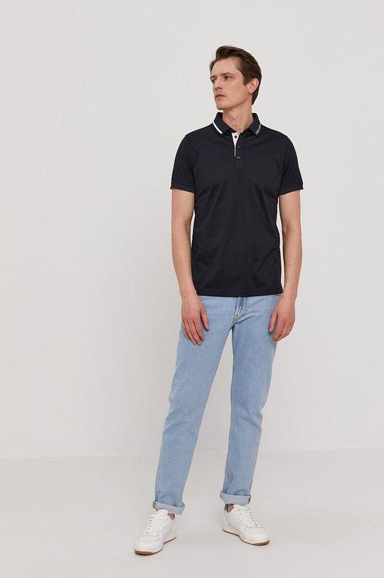 Karl Lagerfeld - Polo tričko námořnická modř