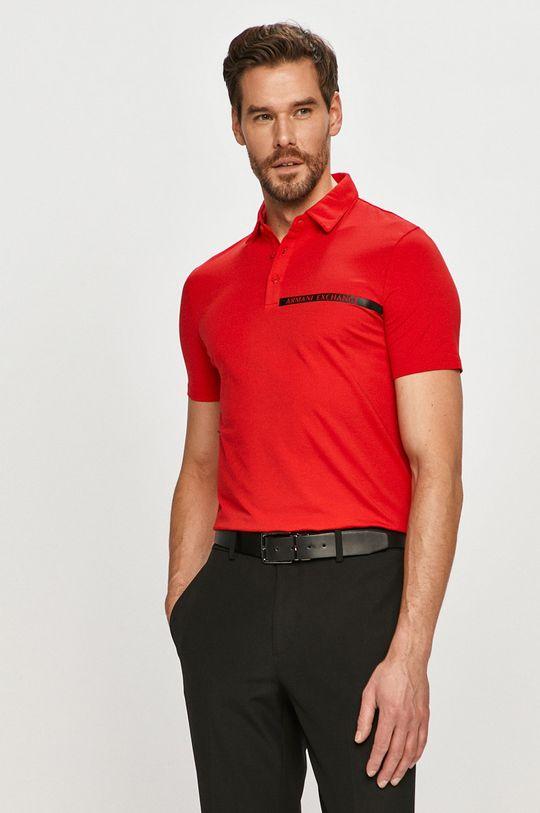 červená Armani Exchange - Polo tričko Pánský