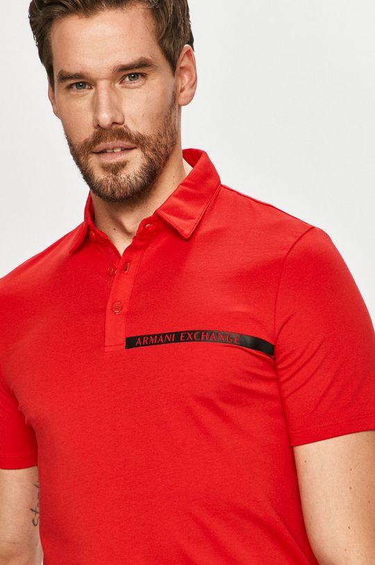 červená Armani Exchange - Polo tričko