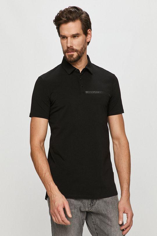 čierna Armani Exchange - Polo tričko Pánsky