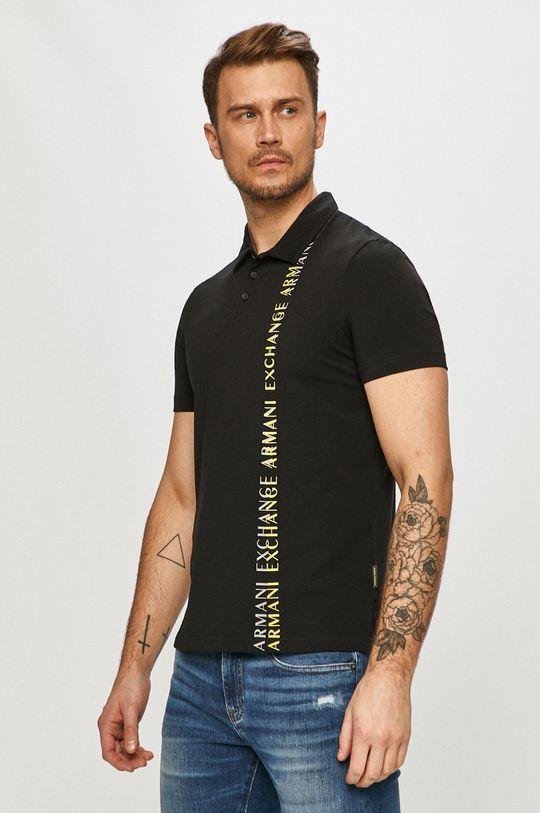 Armani Exchange - Polo tričko čierna