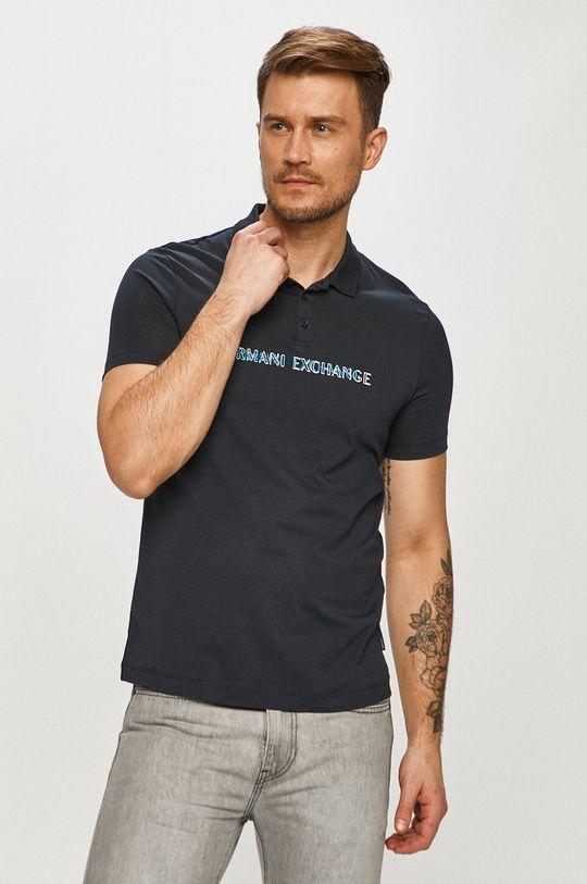 tmavomodrá Armani Exchange - Polo tričko