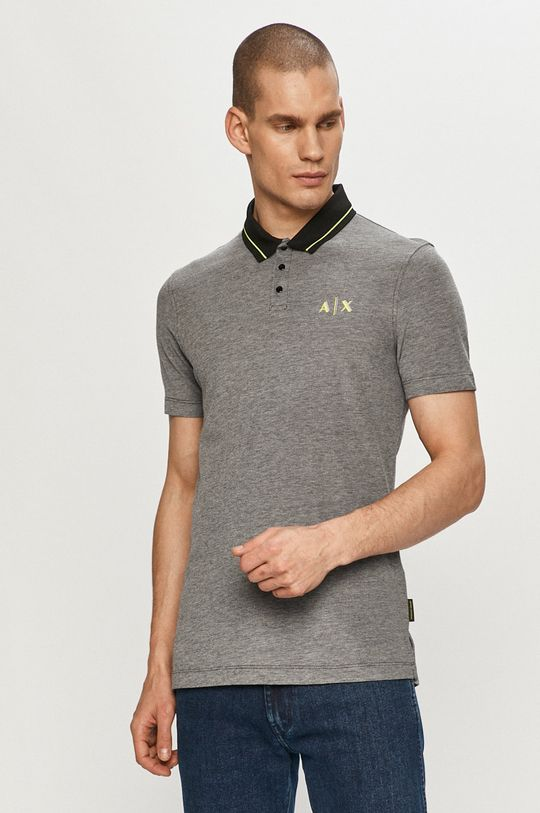 černá Armani Exchange - Polo tričko Pánský