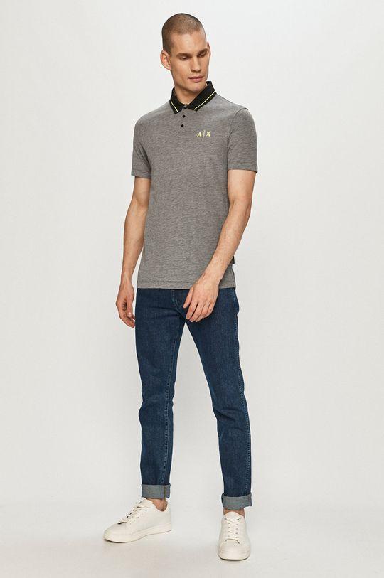 Armani Exchange - Polo tričko černá