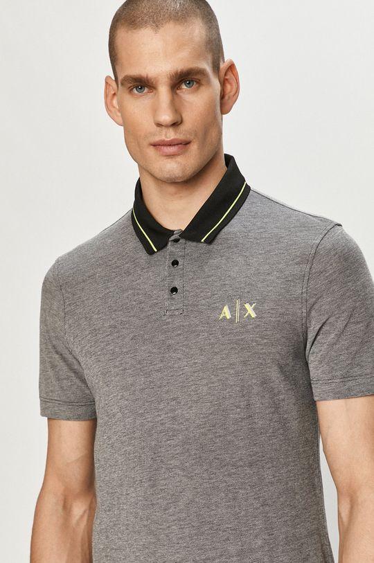 černá Armani Exchange - Polo tričko