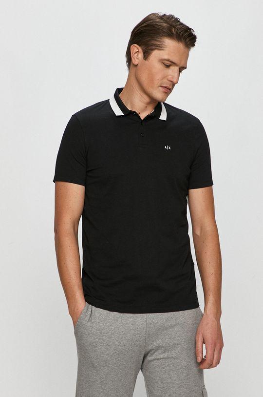 negru Armani Exchange - Tricou Polo De bărbați