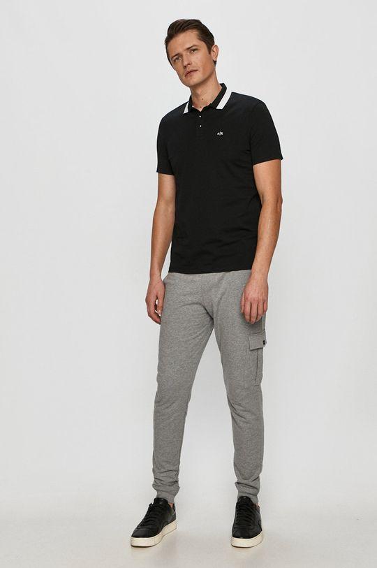Armani Exchange - Tricou Polo negru