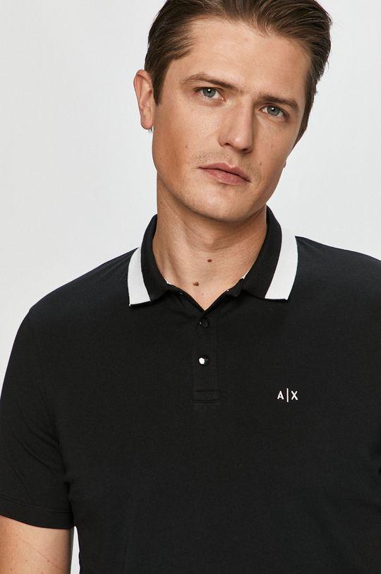 negru Armani Exchange - Tricou Polo