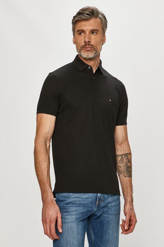 čierna Tommy Hilfiger - Polo tričko Pánsky