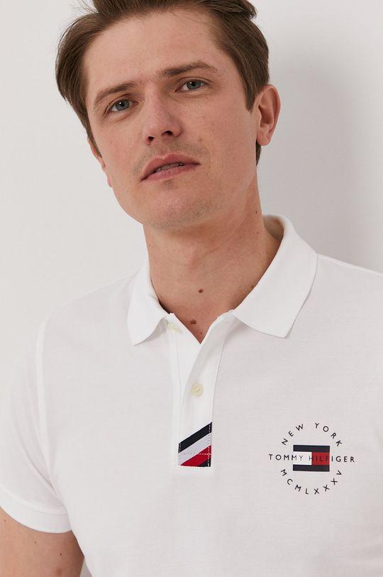biały Tommy Hilfiger - Polo