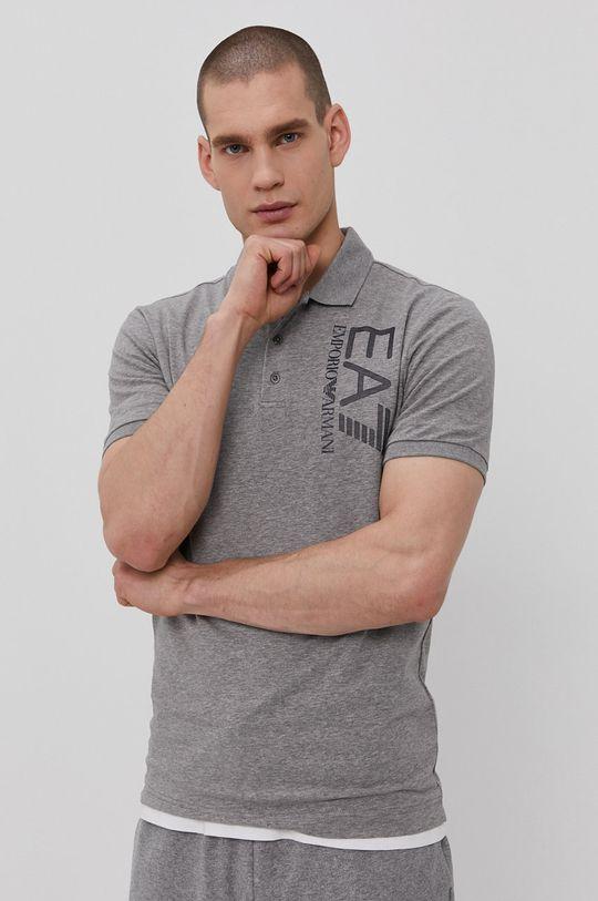 sivá EA7 Emporio Armani - Polo tričko Pánsky