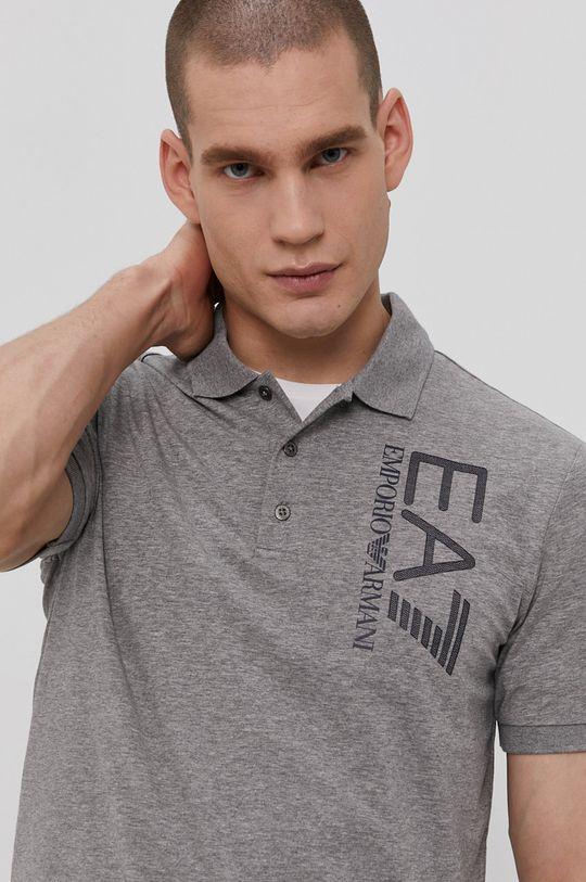 sivá EA7 Emporio Armani - Polo tričko