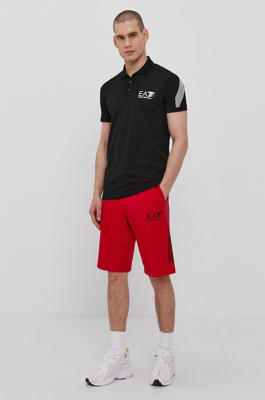 EA7 Emporio Armani - Polo tričko čierna