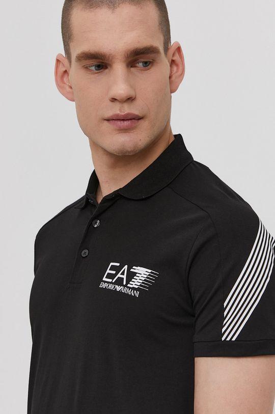 čierna EA7 Emporio Armani - Polo tričko