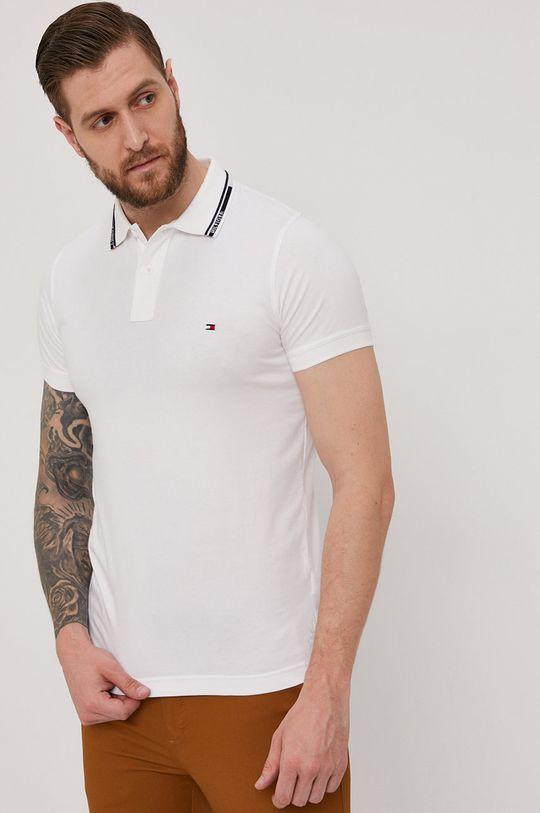 biela Tommy Hilfiger - Polo tričko Pánsky