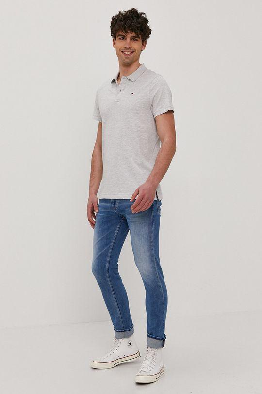 Tommy Jeans - Polo tričko světle šedá