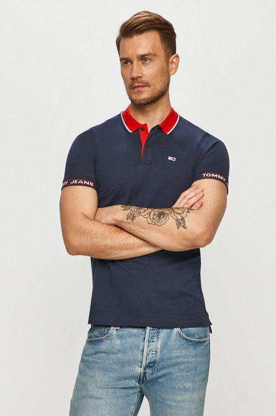 tmavomodrá Tommy Jeans - Polo tričko Pánsky