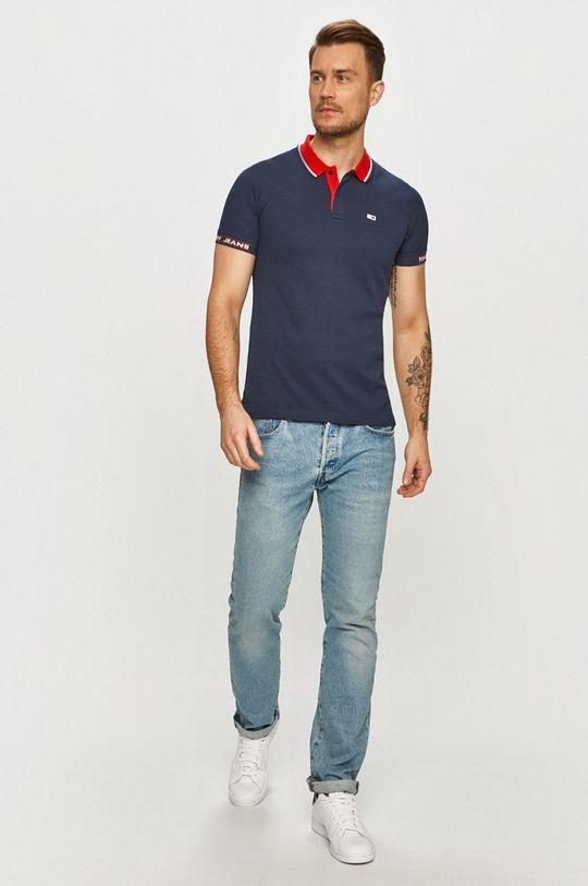 Tommy Jeans - Polo tričko tmavomodrá