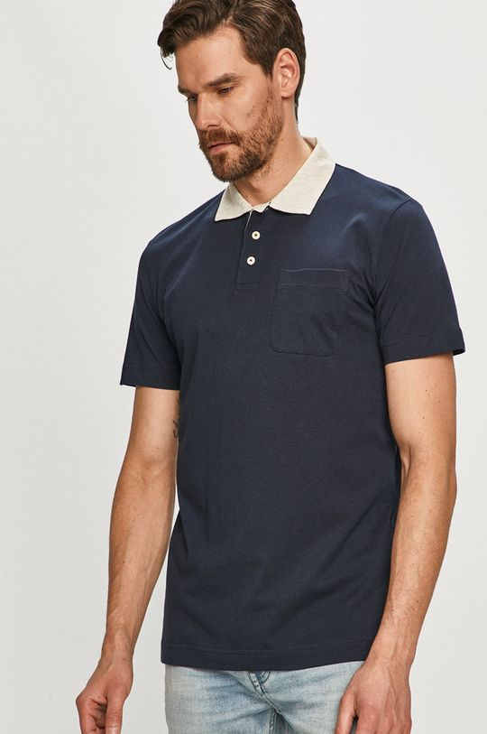 tmavomodrá Selected - Polo tričko Pánsky