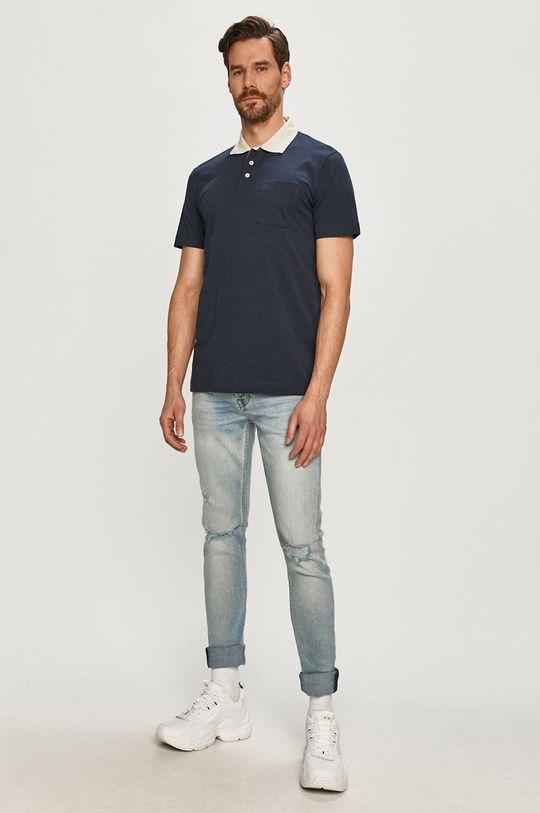 Selected - Polo tričko tmavomodrá