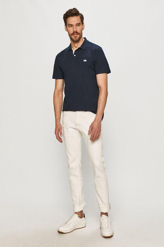 Selected - Polo tričko námořnická modř