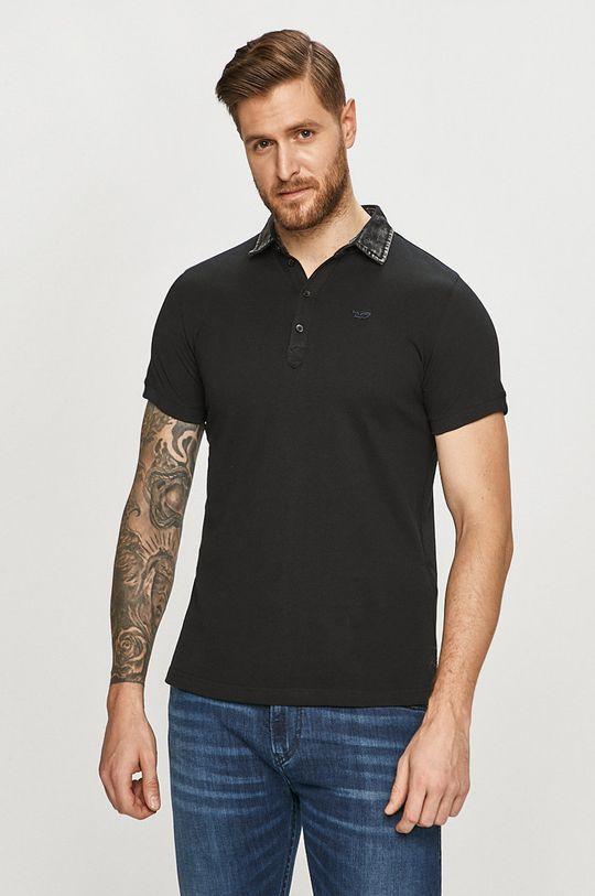 čierna Diesel - Polo tričko Pánsky