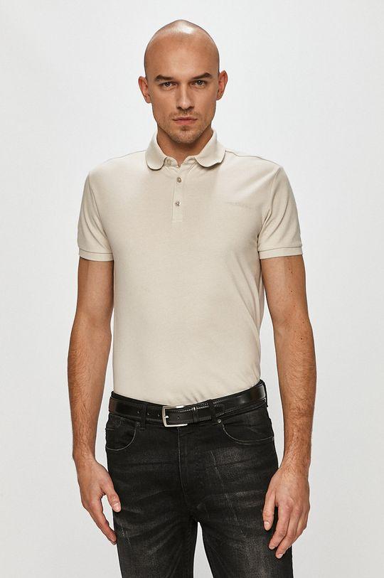 svetlosivá Trussardi Jeans - Polo tričko Pánsky
