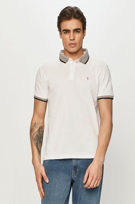 biały Trussardi Jeans - Polo Męski