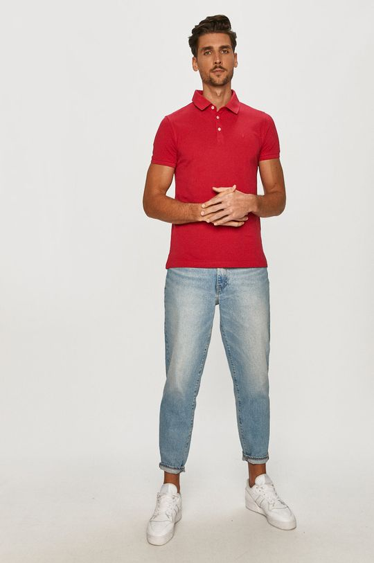 Trussardi Jeans - Polo tričko ružová