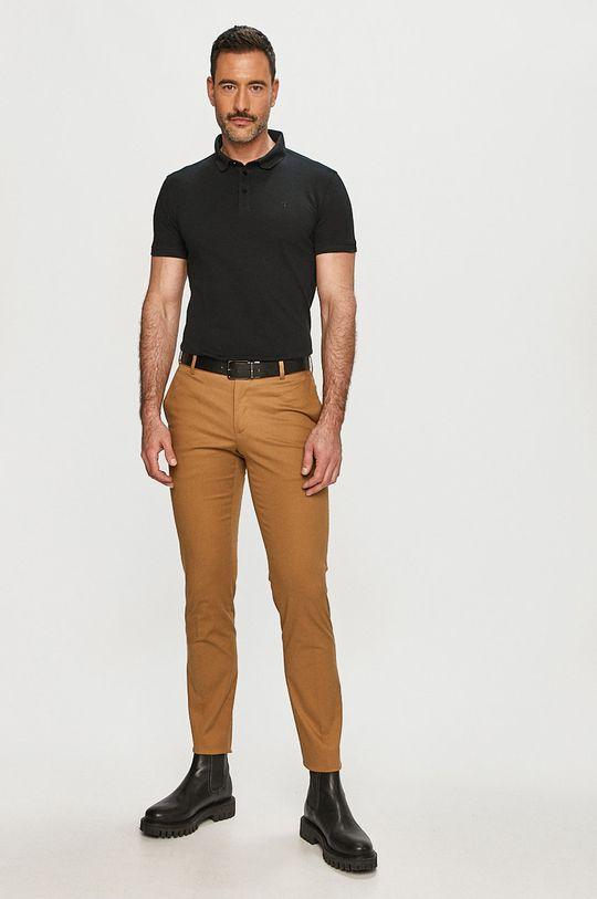 Trussardi Jeans - Polo tričko černá