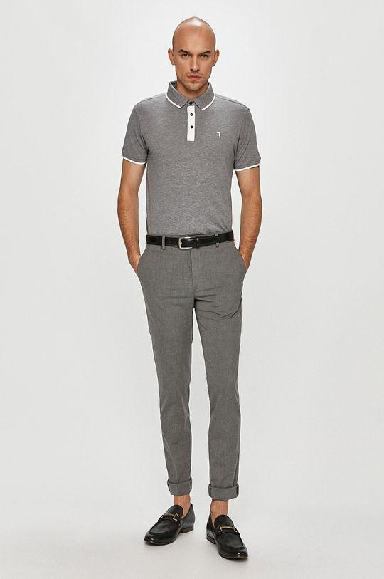 Trussardi Jeans - Polo tričko šedá