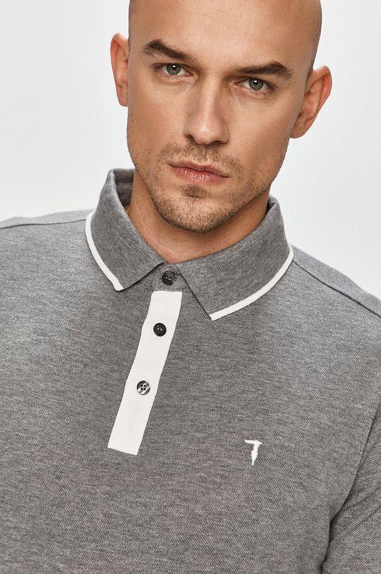 šedá Trussardi Jeans - Polo tričko