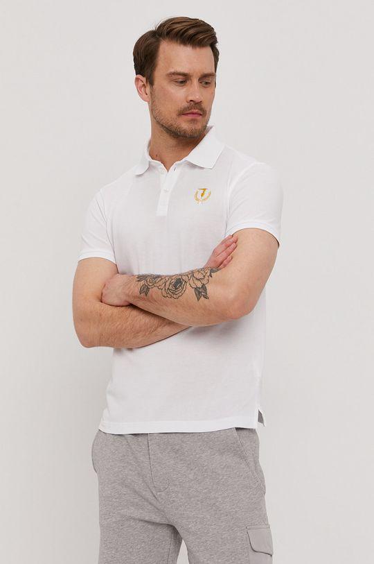 biela Trussardi Jeans - Polo tričko Pánsky