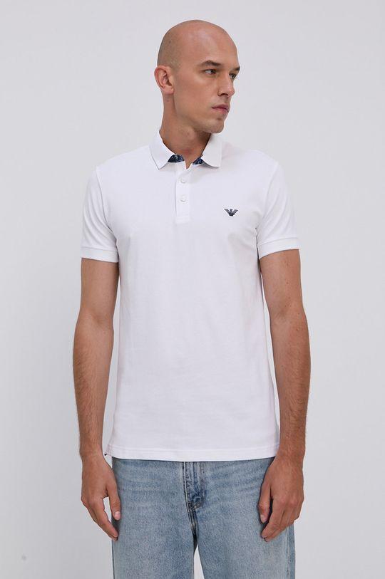 biela Emporio Armani - Polo tričko Pánsky