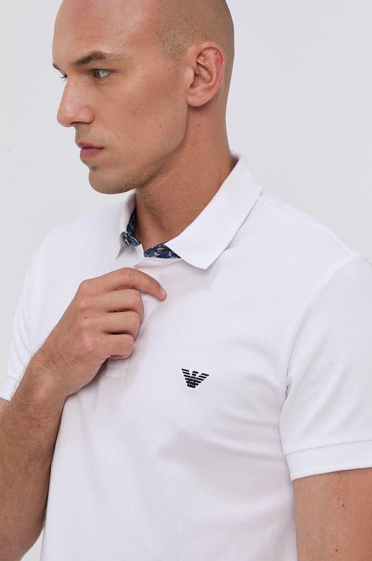 biela Emporio Armani - Polo tričko