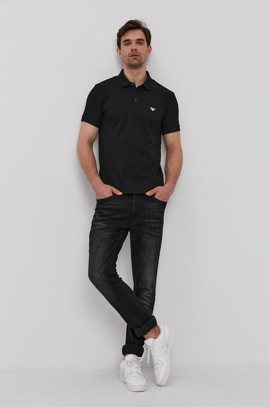 Emporio Armani - Polo tričko černá