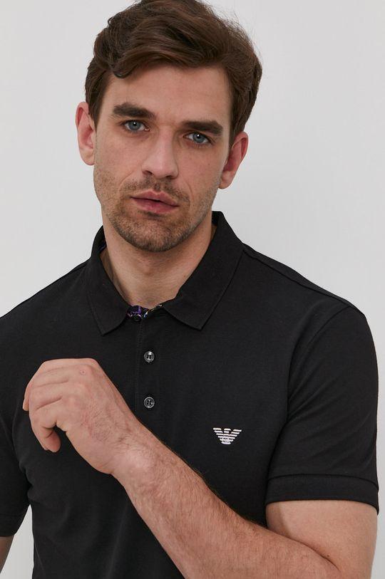 černá Emporio Armani - Polo tričko