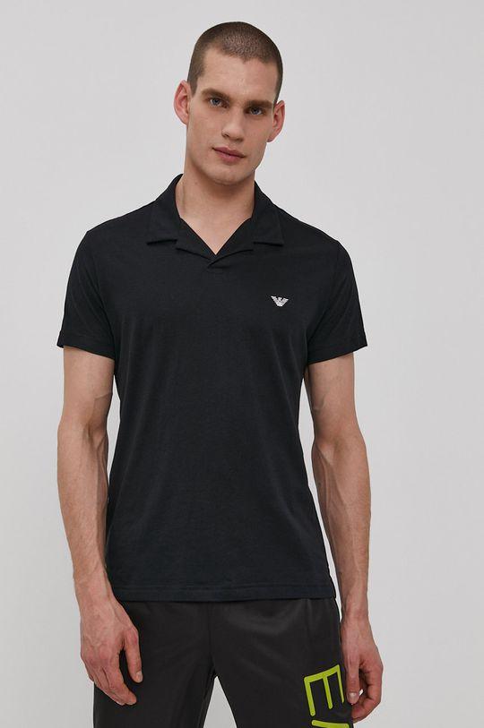 černá Emporio Armani - Polo tričko Pánský