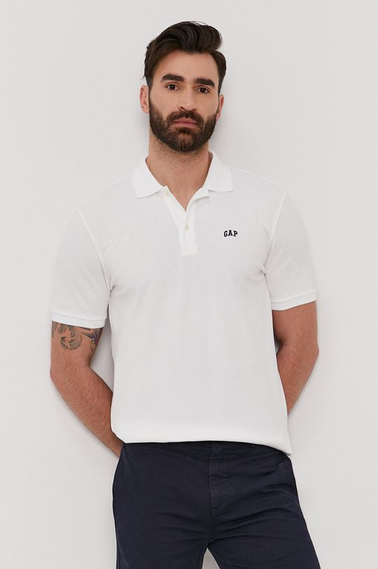 biały GAP - Polo (2-pack) Męski