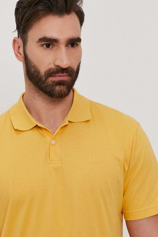 żółty GAP - Polo Męski