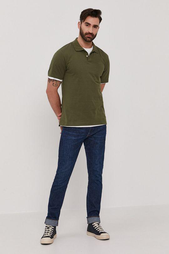 GAP - Polo brązowa zieleń