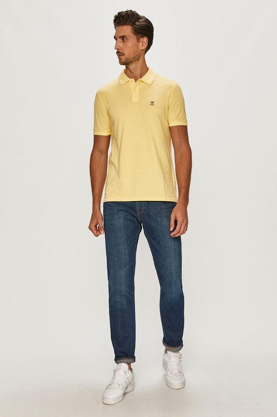 Strellson - Polo żółty