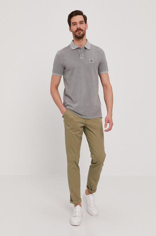 Strellson - Polo tričko šedá