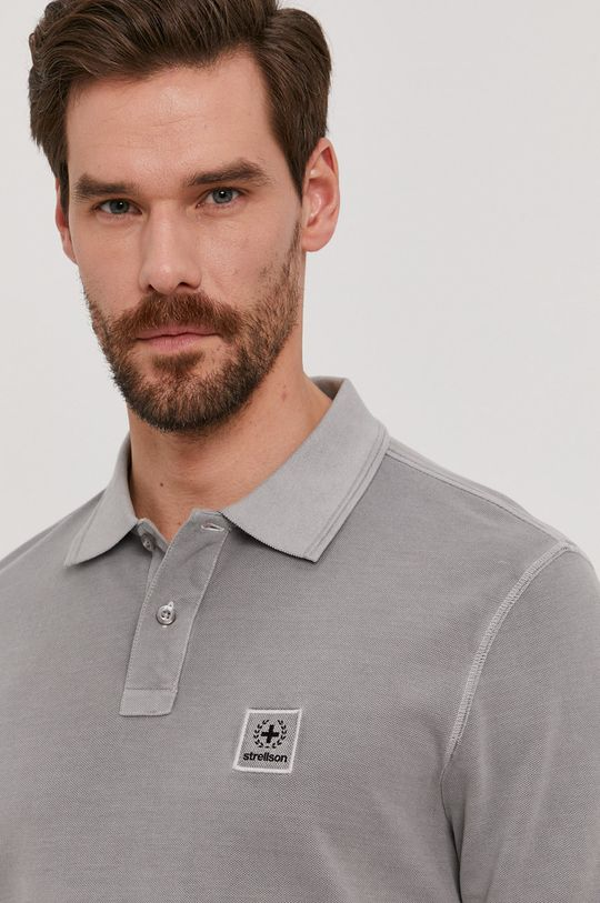 šedá Strellson - Polo tričko