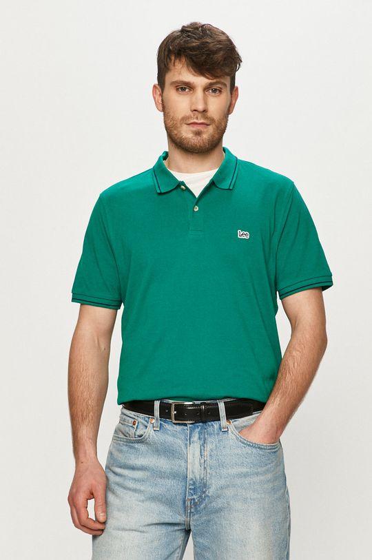 zelená Lee - Polo tričko Pánský